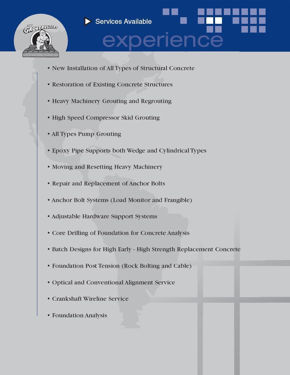 Energy Construction Specialties, Inc  - Services